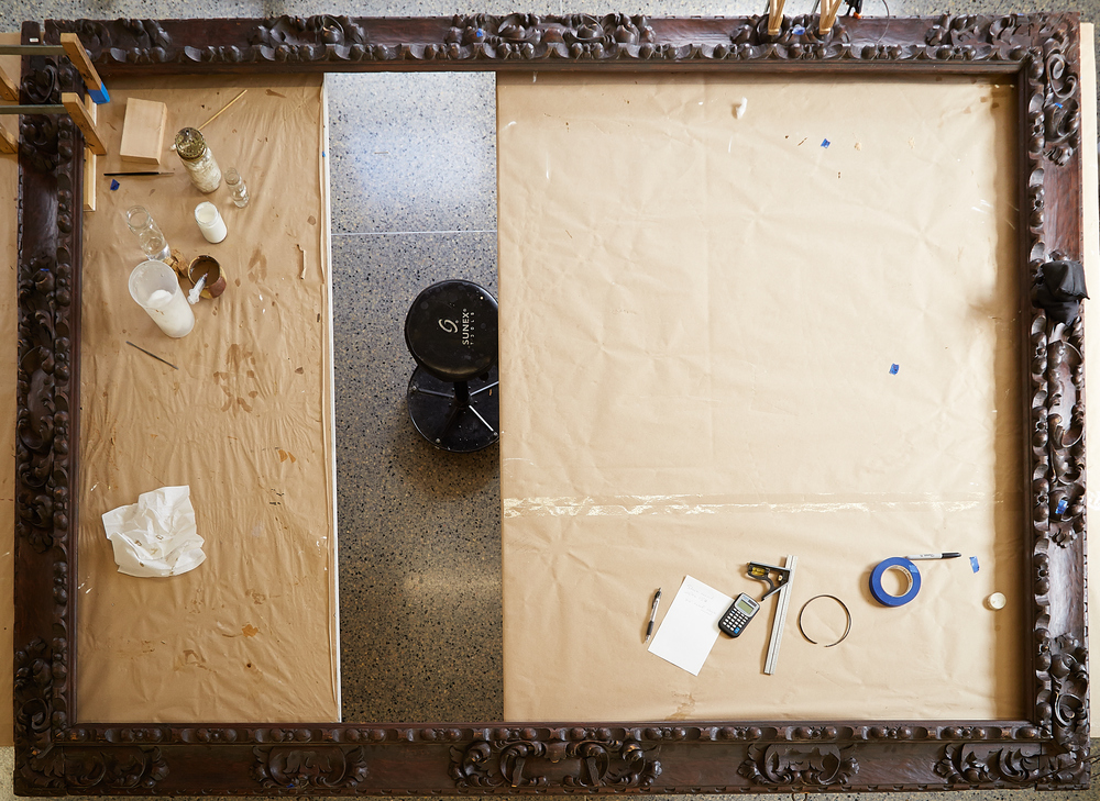 Triumph Of Teamwork Conserving An Elaborate Spanish Colonial Frame