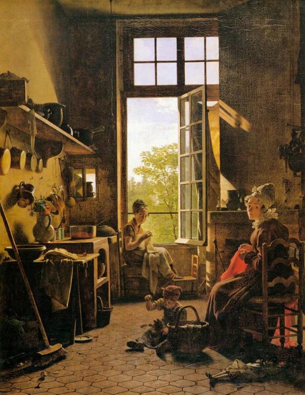 L'Interieur d'une cuisine  by Martin Drolling, 1815