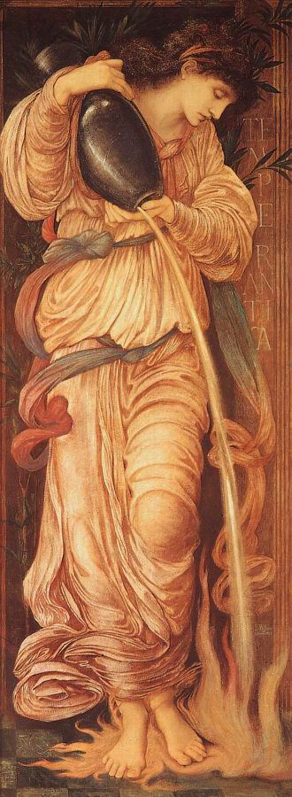 Temperantia  by Edward Burne-Jones, 1872