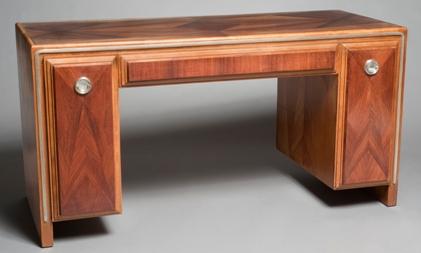 After waxing: Art Deco desk
