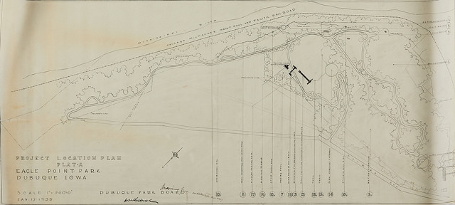 """Eagle Point Park: Project Location Plan - Plat A""  Ink on Tracing Paper"