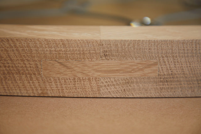 Close up of tenon in the mortice.