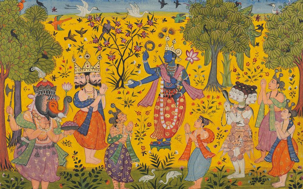 """""""Shankara Ragaputra,"""" Megha Raga, 1610-1620"""