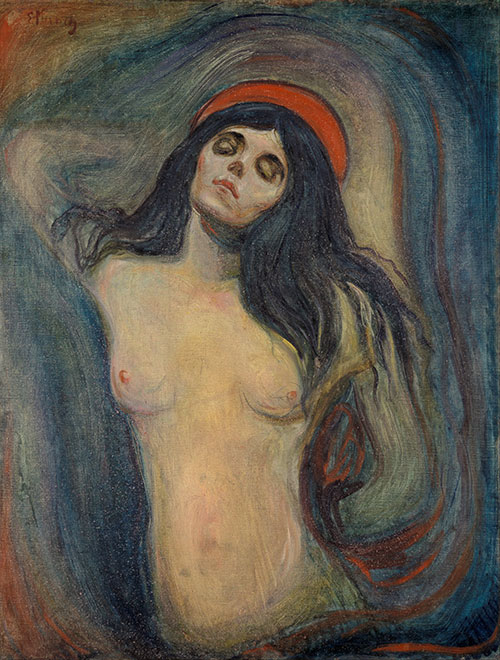 """Madonna,"" Edvard Munch, 1894."