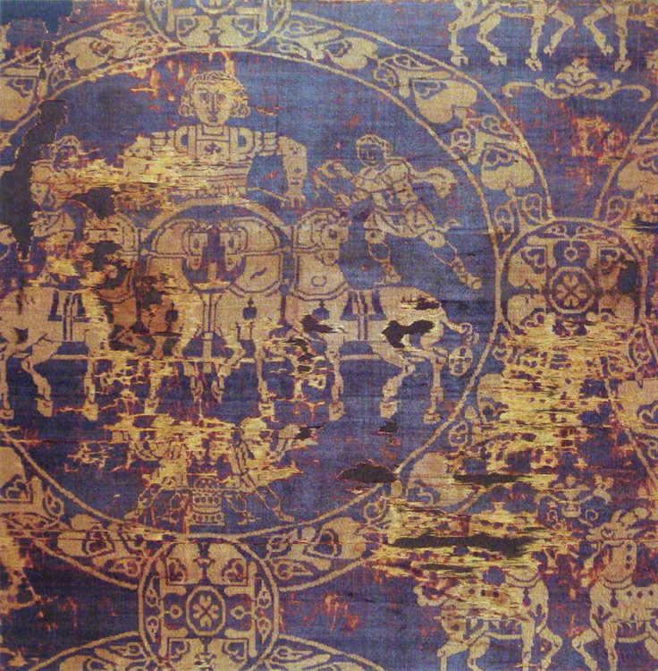 Burial shroud of Charlemagne with Tyrian Purple and gold, c.814 AD.
