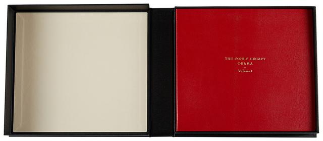 Book I in its custom-made clamshell box.