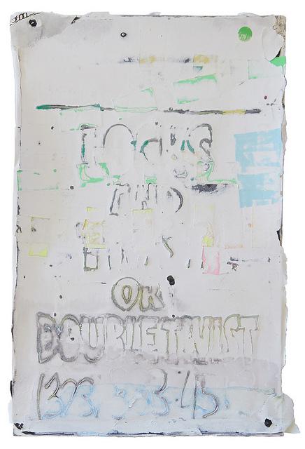 """Afro-Centric Black Folks — Crenshaw 29th"" by Mark Bradford."
