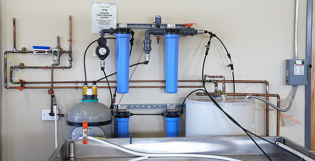 The Center's state-of-the-art water wash station.