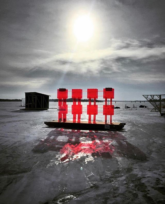 Announcing the first winner of a $40 gift card to @barbettempls! Congrats to @danfergus!! We love the way you highlighted this lovely sculpture on ice!  Thank you for attending our Art Shanty instameet and tagging #artshantyfamily