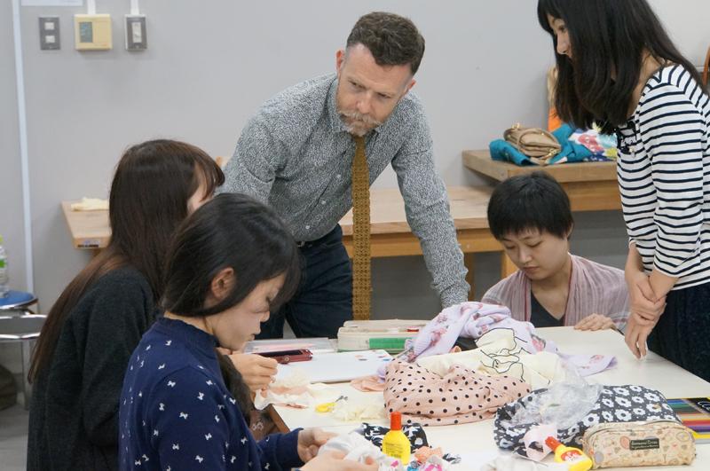 Joshibi University, Tokyo: workshop with textile students
