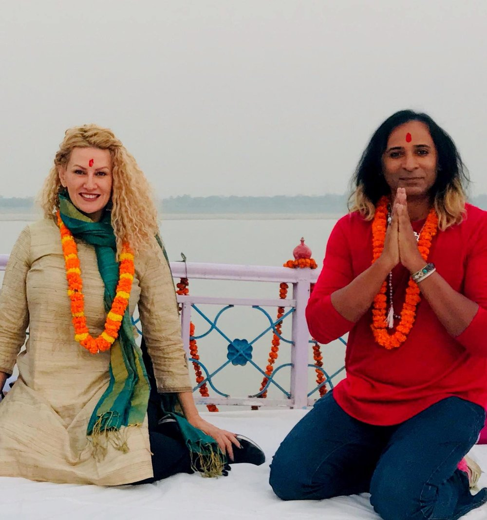 Oriah & Riz in Varanasi for Diwali.