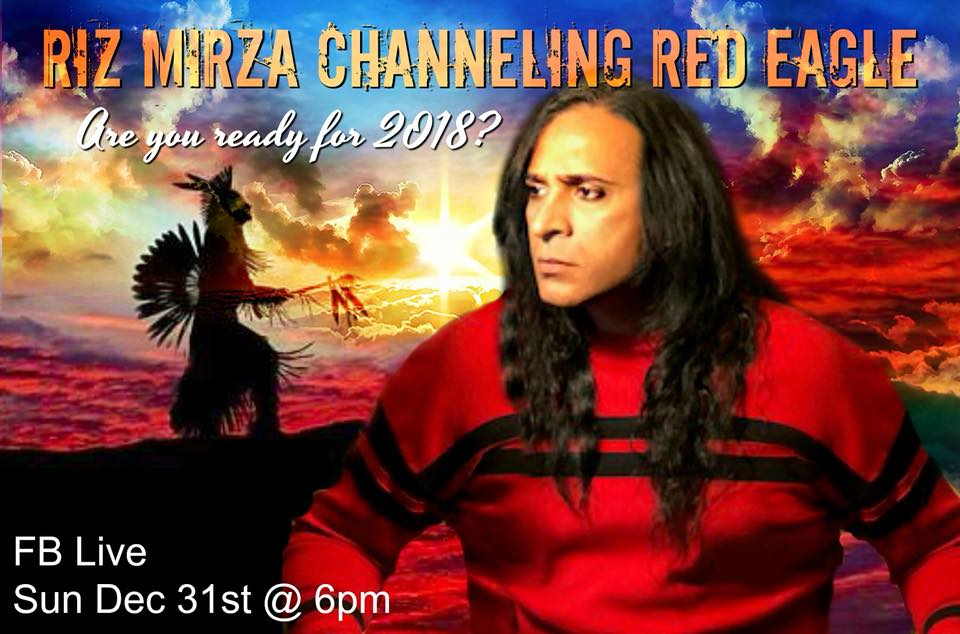 Chief Red Eagle - In 2008, musician and artist Riz Mirza started having powerful psychic experiences.He began telepathically communicating with a being who identified himself as Native American Chief who lived over a century ago by the name of Red Eagle. Red Eagle told Riz that he would like to deliver messages of love, truth and awakening to the people of Mother earth.Riz began giving psychic readings to anyone who would listen. The messages were strikingly accurate and life changing. Riz left his home in New York City with nothing but the clothes on his back and his guitar and moved his life to Los Angeles. There he began channeling Red Eagle in deep trance to large groups of people.This book is red Eagle's offering to everyone who has met him and those who are about to, like you.Riz Mirza's Main message bearer, Chief Red Eagle channeled over 1,000 channeling circles worldwide. First book, Red Eagle Speaks. More books coming in 2019!