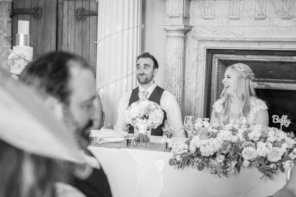 Speeches - Trudi & Jamie | Hazlewood Castle wedding photography