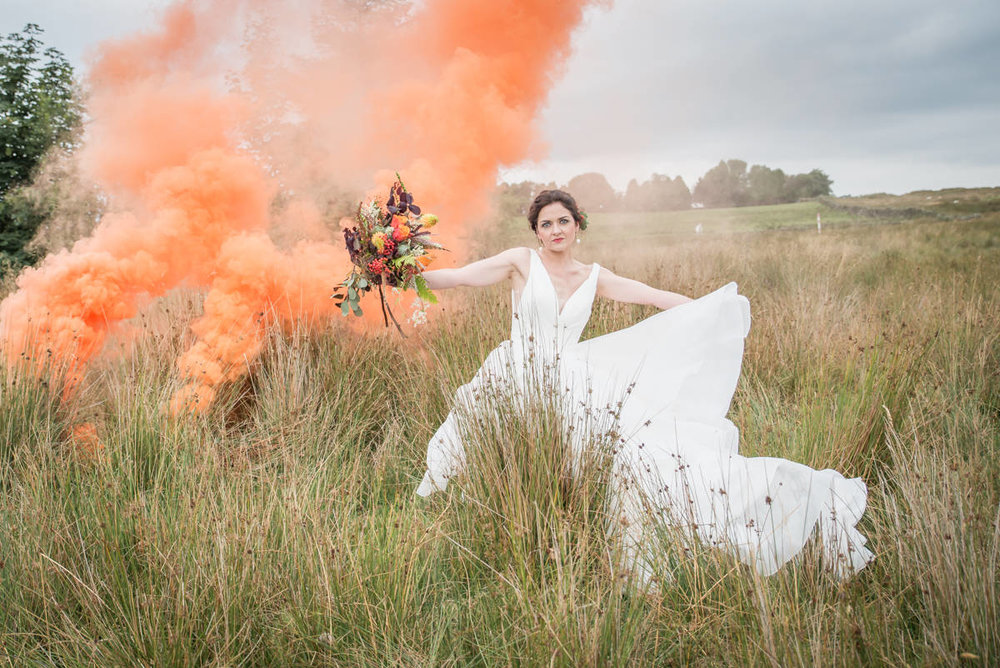 Wedding photographers yorkshire - wedding photographers leeds - natural wedding photography - smoke bombs (3 of 3).jpg