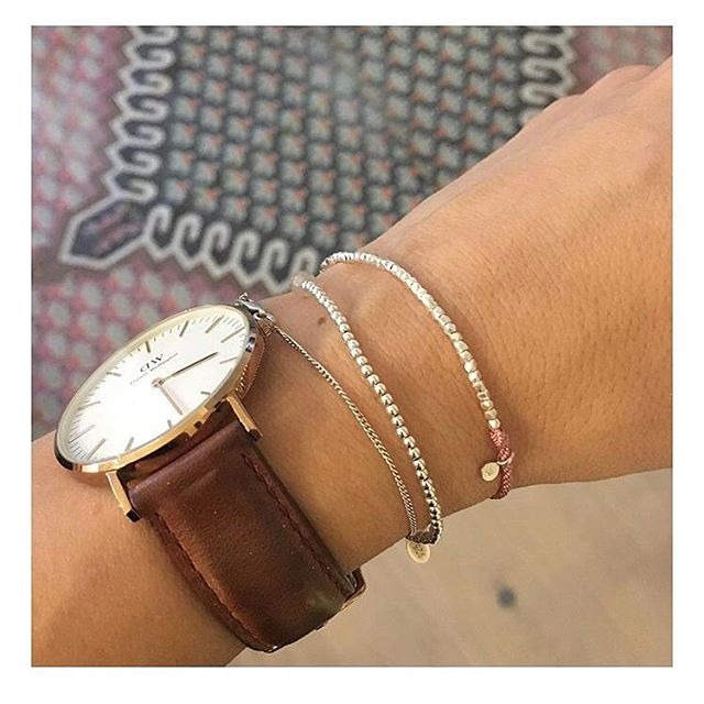 A gorgeous pic of our dusky pink nugget bracelet. Thanks @snippets_of_my_lifex!  #jotd #sterlingsilver #bracelet #wristwear