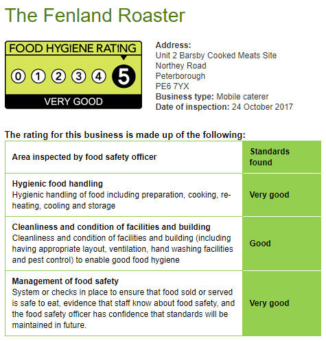 See our food hygiene listing here