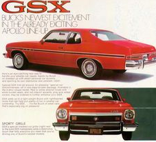 Buick advertisement for the 1974 GSX.