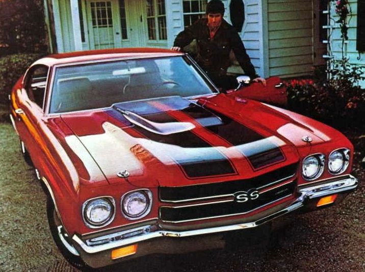 Advertisement for the 1970 Chevelle SS.