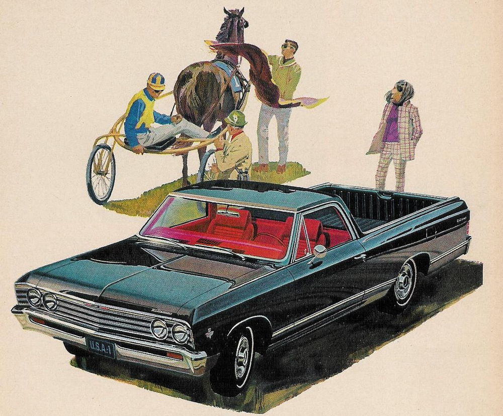 Advertisement for the 1974 Chevrolet El Camino.