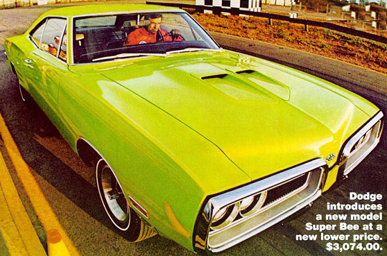 Advertisement for the 1970 Super Bee.