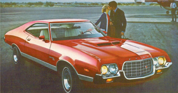 Advertisement for the 1972 Gran Torino Sport.