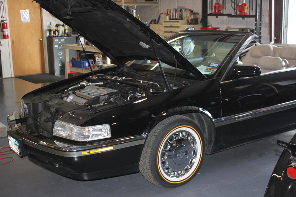 The '94 El Dorado as it arrived in the shop.