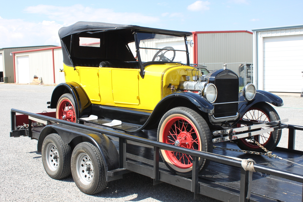 The 1926 Custom Ford Speedster as it arrived in the shop.