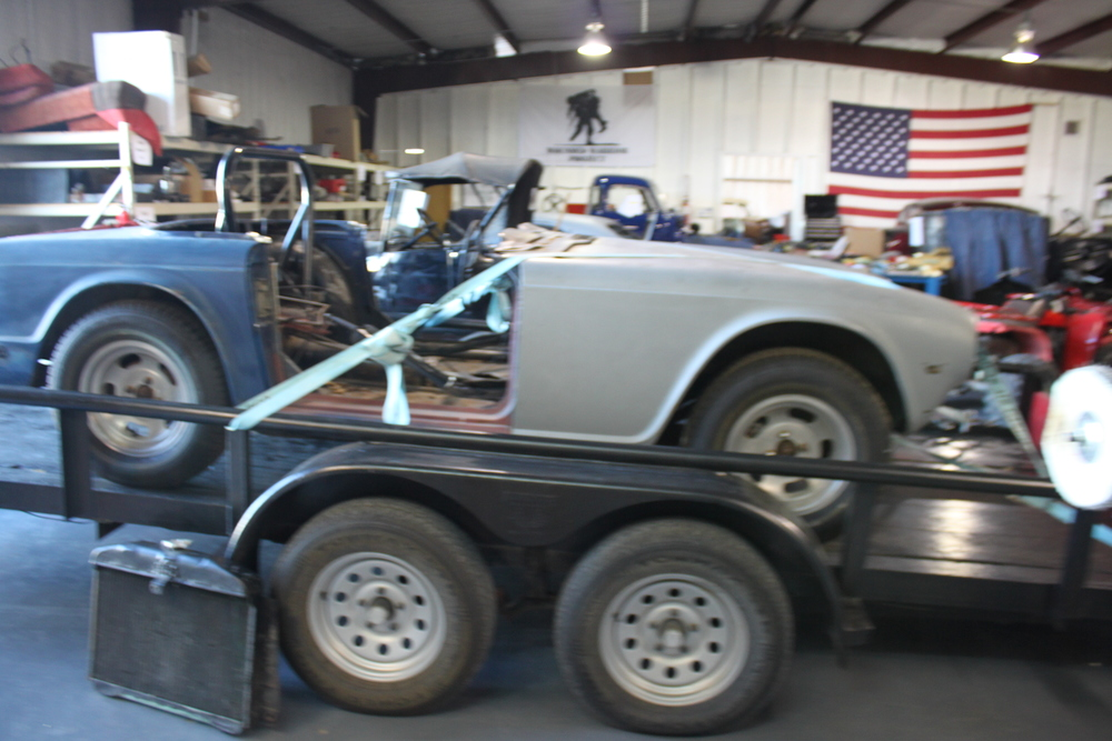 The 1972 TR6 as it arrived in the shop.