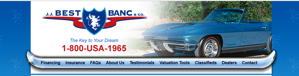 Collector car financing is quick and easy with J.J. BEST BANC & Co.'s excellent customer service and knowledgeable team. In as little as 2 minutes, you'll be approved to finally own that special car you've been wanting to add to your collection.