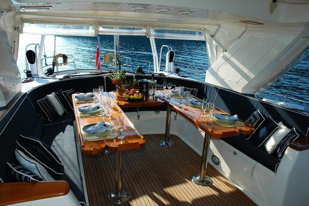 Interior of boat