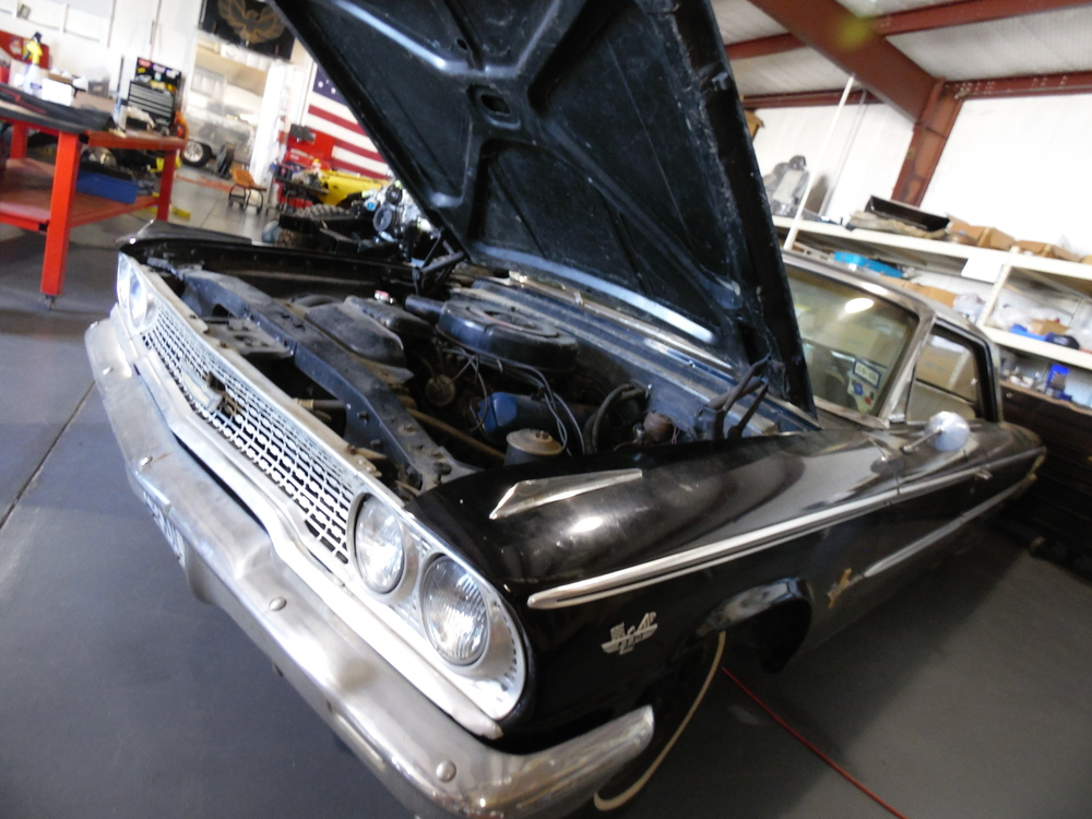 Ford Galaxie in shop