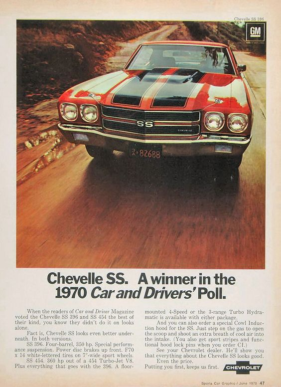 1970 Chevelle SS ad