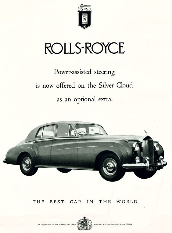 Rolls Royce Silver Cloud ad
