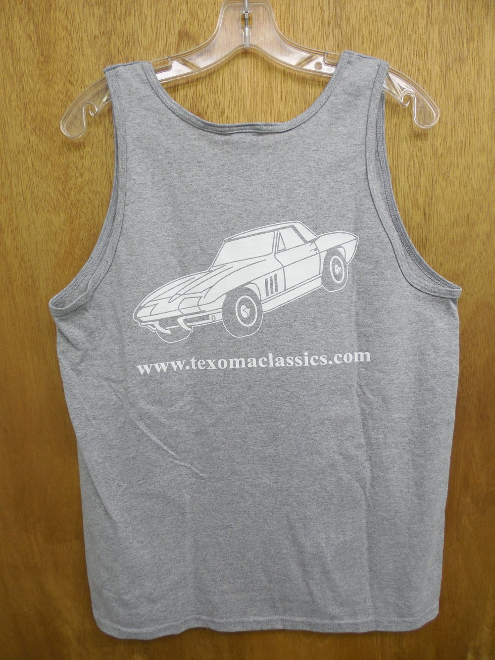 Back of the Texoma Classics gray mens tank