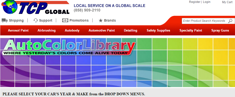 Auto Color Library Banner