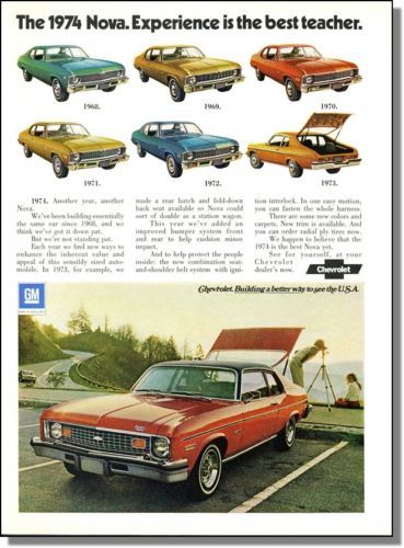 Chevrolet Nova ad