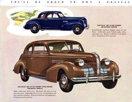 1939 Pontiac Coupe ad
