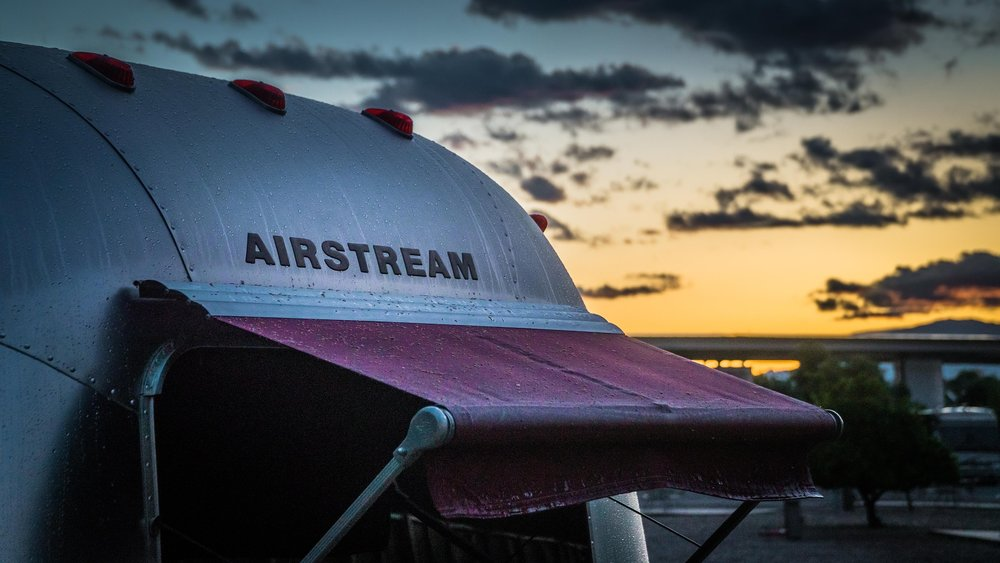 Airstream with cover