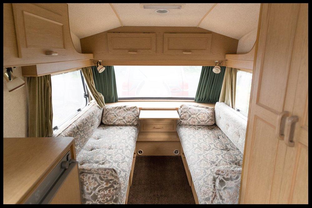 Vintage trailer interior
