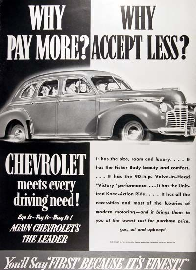 1941 Sedan ad