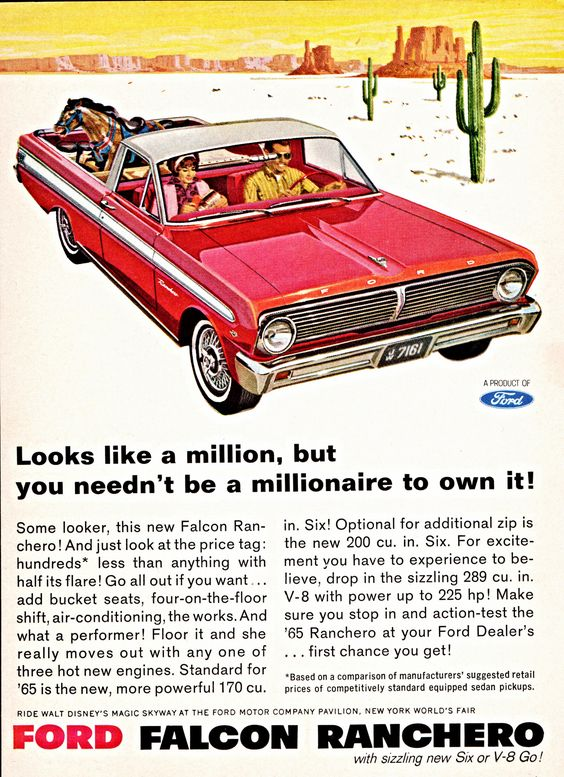 1965 Ford Falcon Ranchero ad