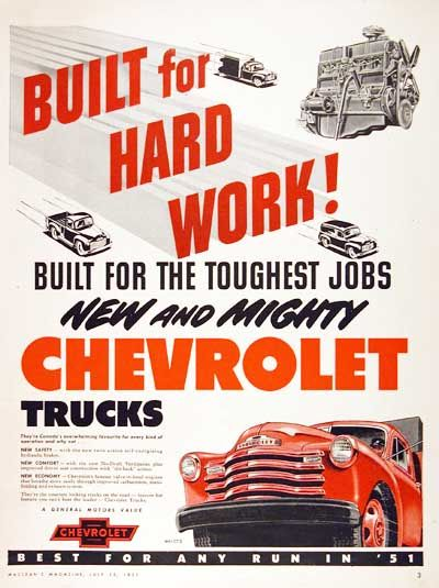 1951 Chevrolet Truck ad