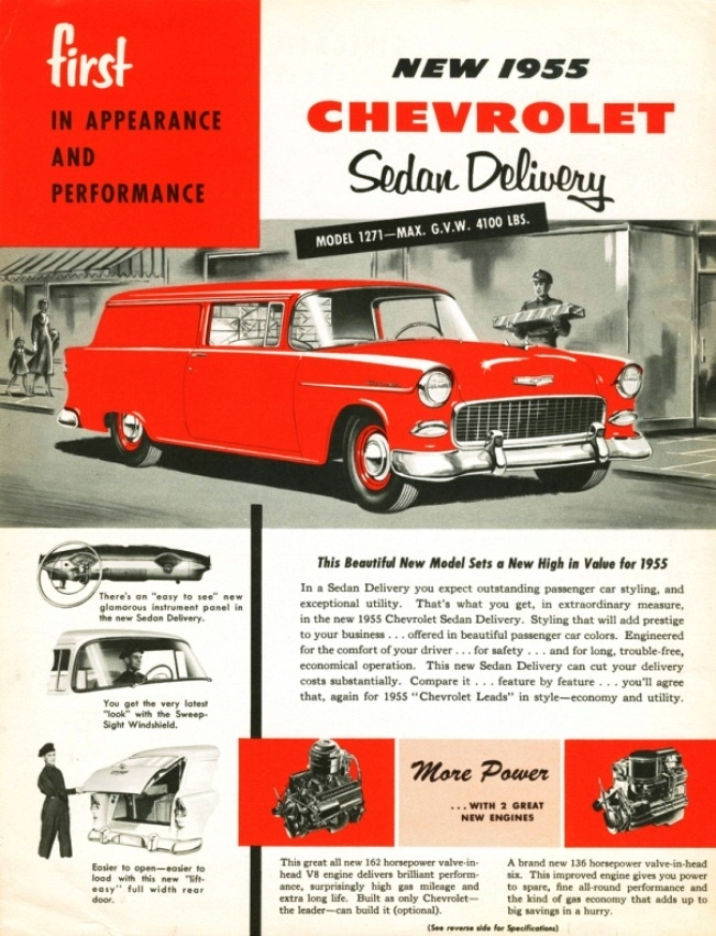 1955 Chevrolet Sedan Delivery ad