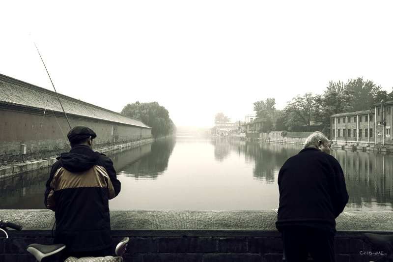 Taken on Oct 20, 2014 Fishing outside the Forbidden City - Beijing - China