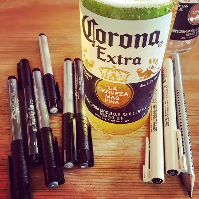 Art supplies and inspiration 🍺🐲🐣