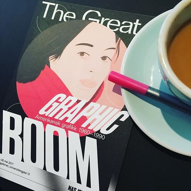 #thegreatgraphicboom was a treat! Got to experience American graphic art from the 60's-90's in all it's glory and now my drawing hand is itching to sketch something out! #popart #graphicart @nasjonalmuseet