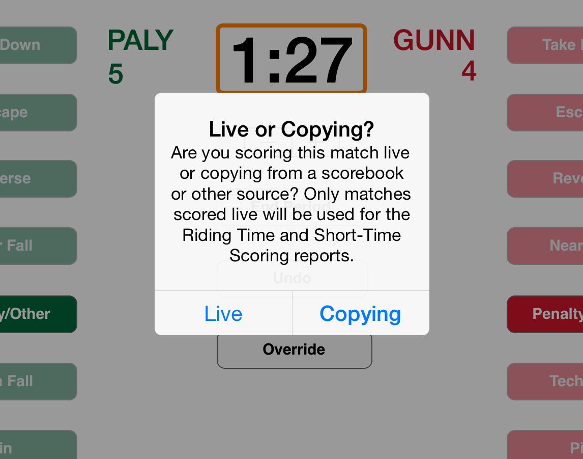 Live or Copying Alert