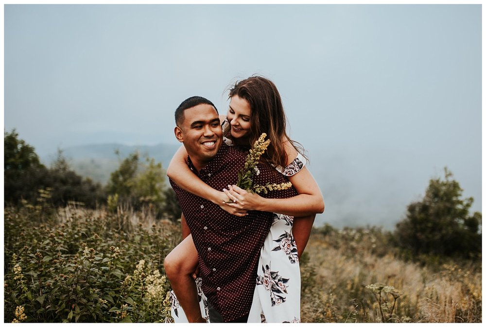 Cara + Brian// Foggy Mountian Engagement