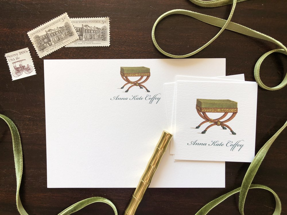X Bench Stationery by Calabash Card Co.