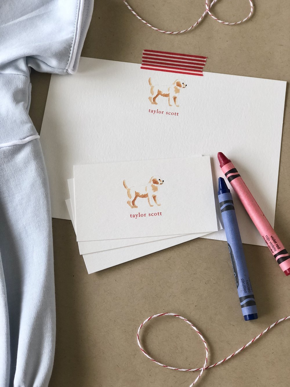 Puppy Stationery from Calabash Card Co.